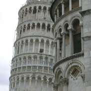 Pisa - Tower trying to hide!