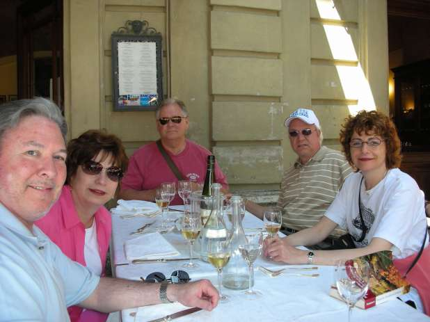 Lunch in Florence at the hotel,